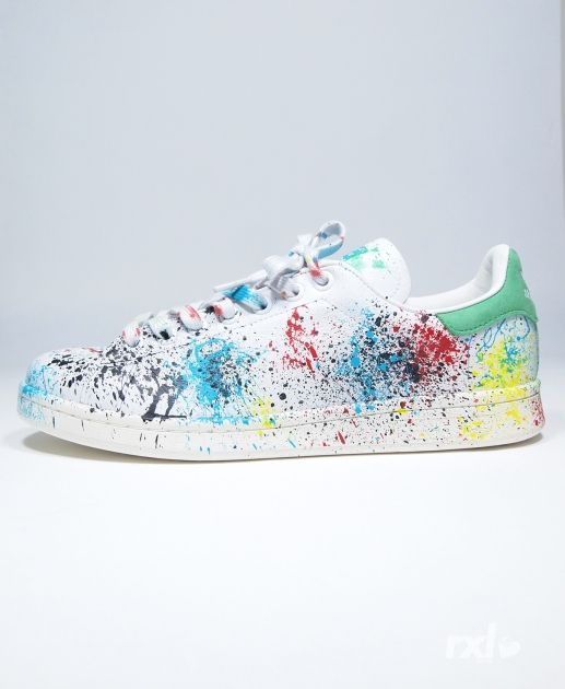 best baskets sneakers 2017 2018 adidas original stan smith rxl custom paint stains. Black Bedroom Furniture Sets. Home Design Ideas