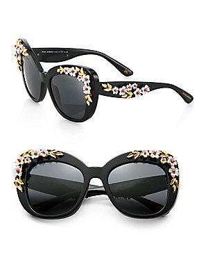 a9fa46ae6c62 Dolce   Gabbana Garden Flowers Cat s-eye Sunglasses