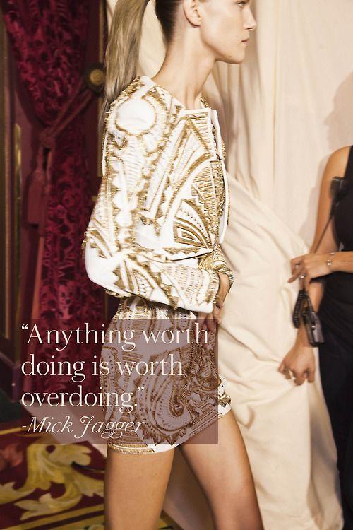 Fashion Quotes Glamour Tumblr Balmain Spring 2012 Photo Mark Leibowitz Youfashion