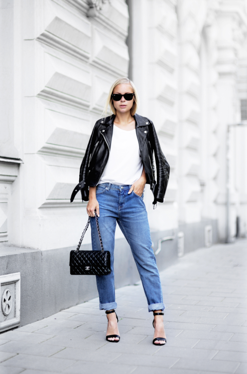 Street Style Todays Outfit Boyfriend Denim Leading Fashion