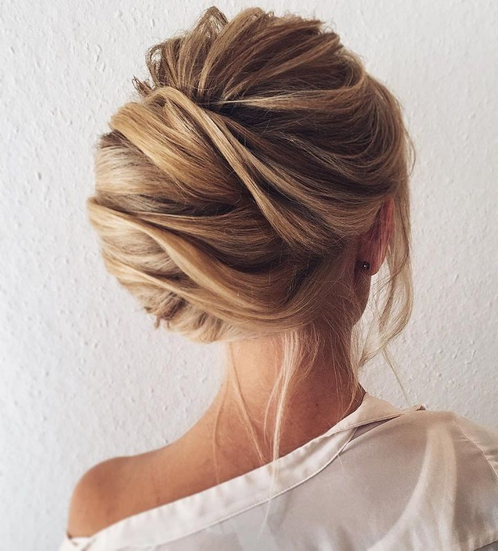 Trendy Hair Style Pretty Chignon Hairstyle For Long Side
