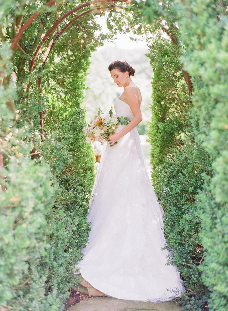 Beautiful Brand Wedding Dresses Historic Estate Wedding With Secret Garden Style