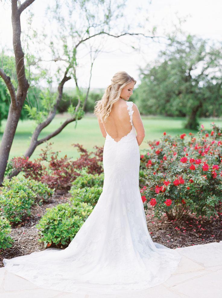 Beautiful brand wedding dresses plunging backless for Gorgeous backless wedding dresses