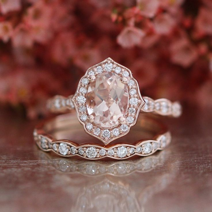 Luxury Jewelry 2017 2018 Bridal Set Vintage Floral Oval