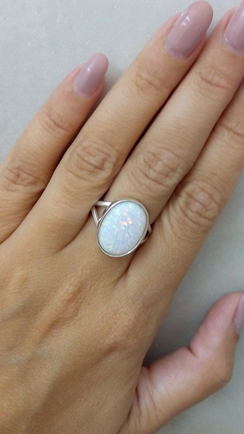 Luxury Jewelry 2017/2018 : SALE! Opal ring,white opal ring ...