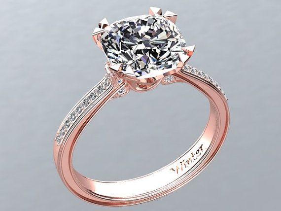 Diamond K Victorian Gypsy Ring