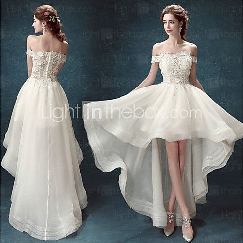 Wedding Dresses USD 99 : Short wedding dresses a line asymmetrical dress