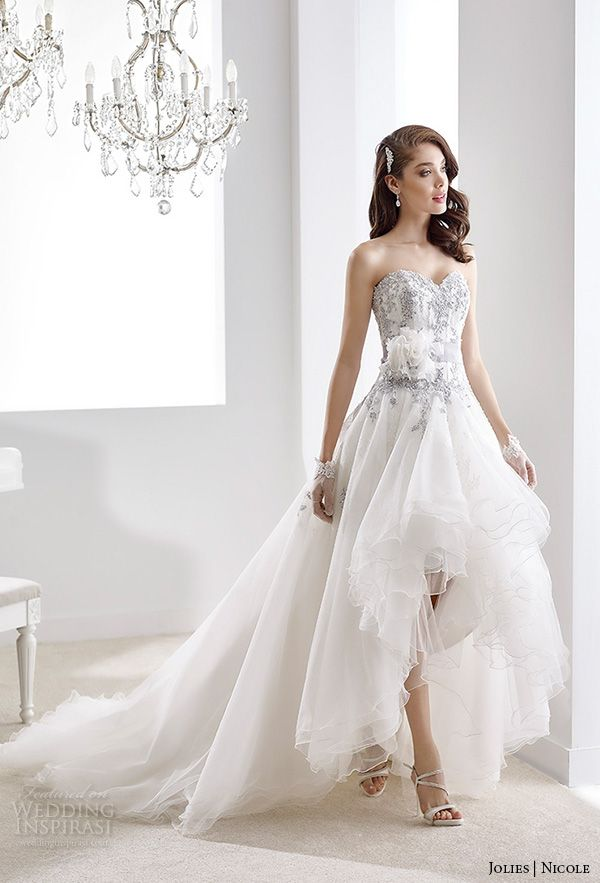 Short Wedding Dresses Nicole Jolies Collection 2016