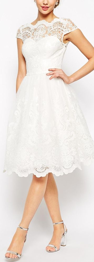 Short wedding dresses retro lace dress for after the for Dress for after the wedding