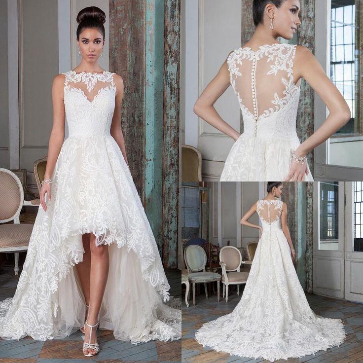 Short Wedding Dresses : Wedding Gown Designs Plus Size Lace A Line ...