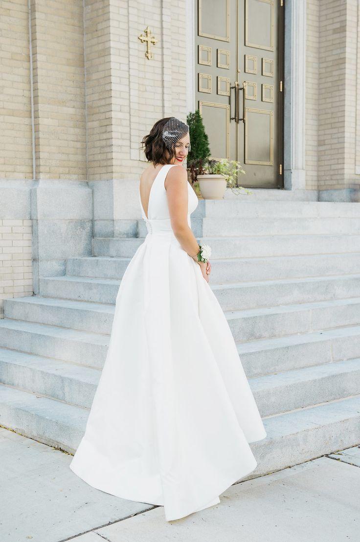 Beautiful Brand Wedding Dresses Deep V Wedding Dress
