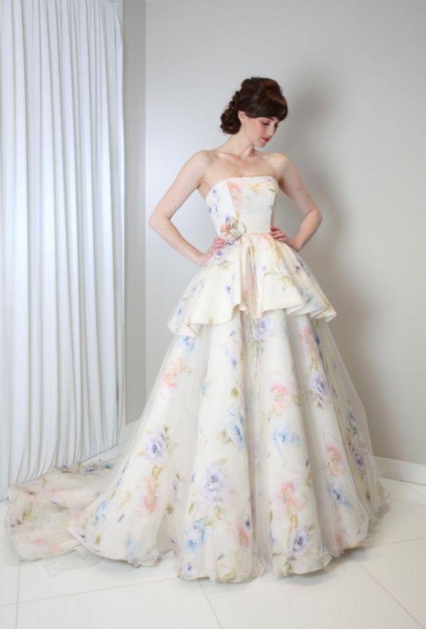 Beautiful Brand Wedding Dresses Watercolor Wedding Dress Photography Randi Raham Atelier Www Randirahm Com Youfashion Net Leading Fashion Lifestyle Magazine