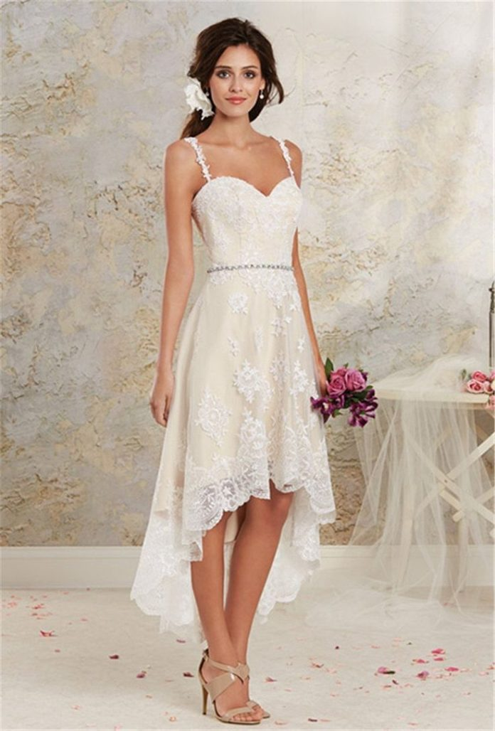 Short Wedding Dresses 2016 Vintage High Low Country Wedding Dresses Cheap New Sexy Spaghetti Lace Tea Youfashion Net Leading Fashion Lifestyle Magazine