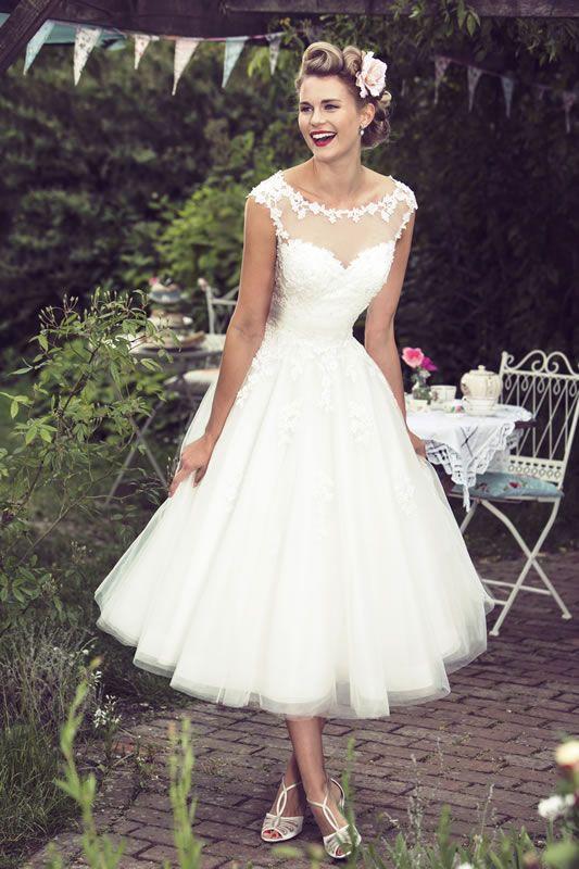 Short Wedding Dresses : Brighton Belle Tea Length Wedding Dress ...