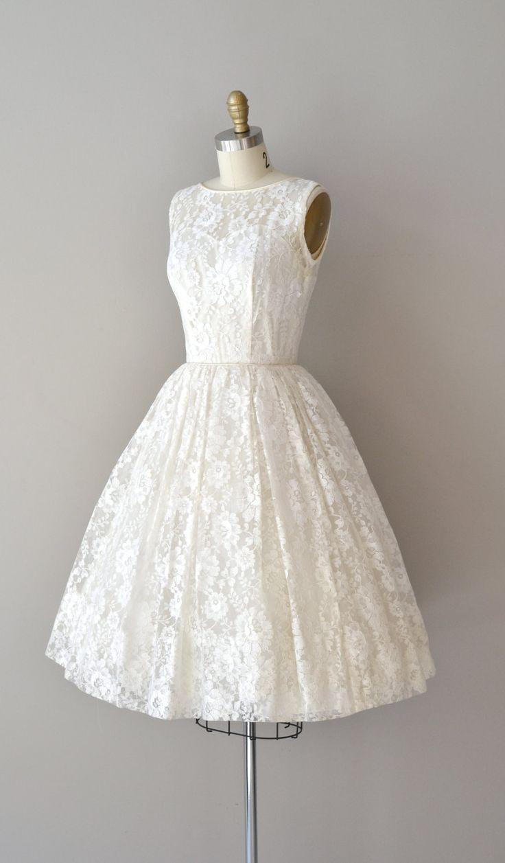 Short Wedding Dresses Lace 50s Wedding Dress 1950s Dress