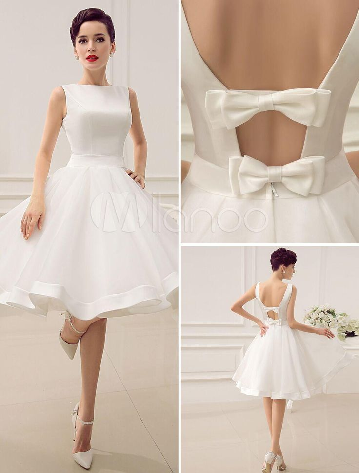 Short Wedding Dresses : Vintage 1950\'s Short Wedding Dresses Knee ...