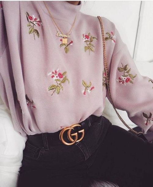 Street Style Pink Sweater Leading Fashion Lifestyle Magazine