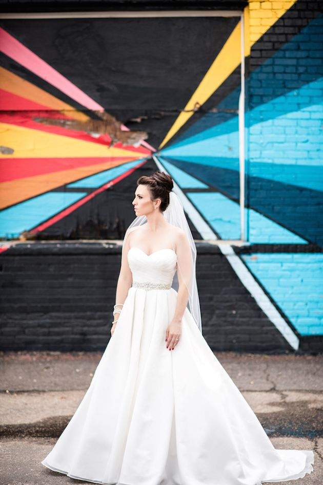 Trendy Wedding Dresses : Cool City Wedding in Denver by Elizabeth ...