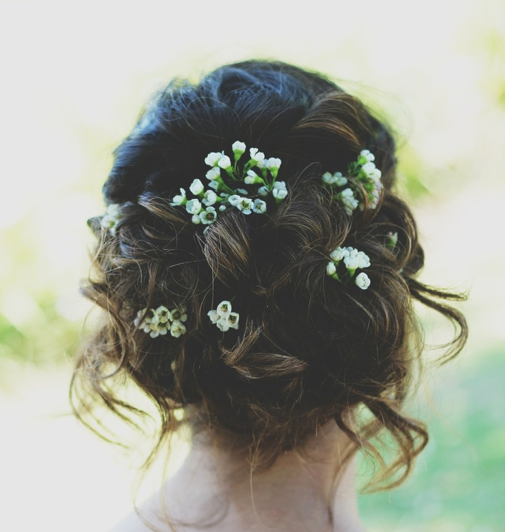 Wedding Hair With Flowers Jewels Prom Hair Updo Loose Flowers