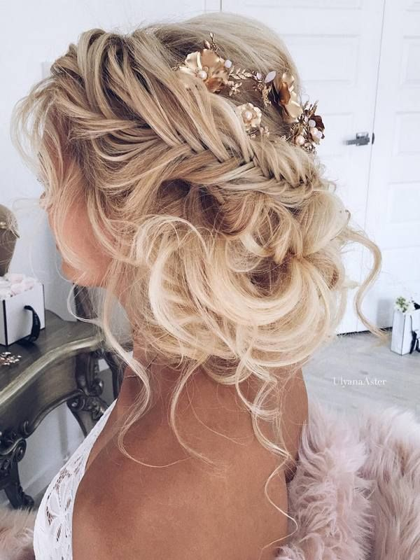 Wedding Hair With Flowers Jewels Ulyana Aster Long Wedding