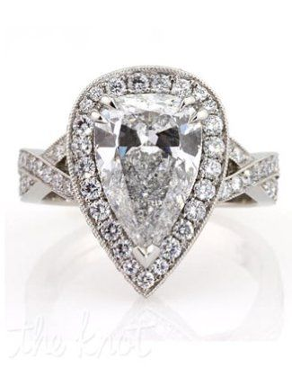 Diamond Rings : 5 Pear Shape Diamond Engagement Rings ...
