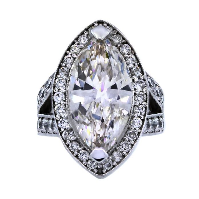 Diamond Rings 7 20 Carat Marquise Diamond White Gold Engagement Ring