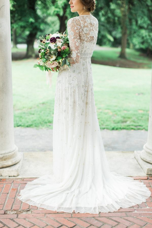 Beautiful brand wedding dresses modern rustic sheer for Chic modern wedding dresses