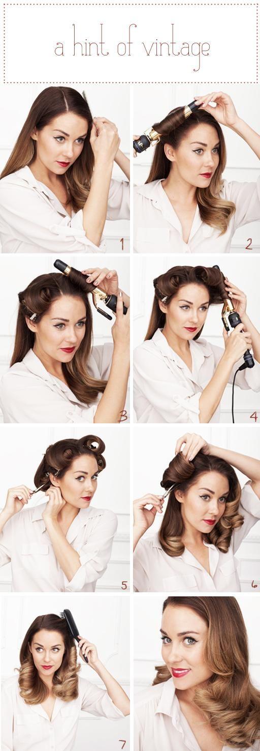 Trendy Hair Style Coiffure Vintage L Art Des Boucles