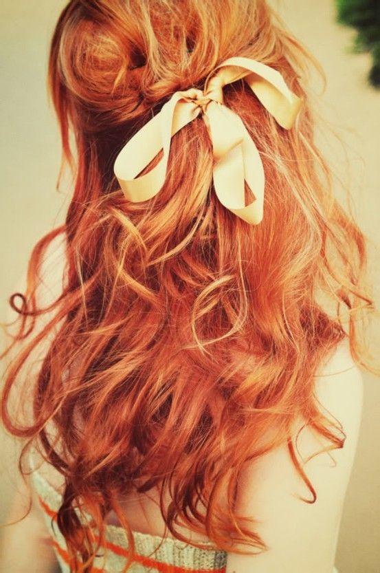 Девушки со спины с рыжими волосами #7