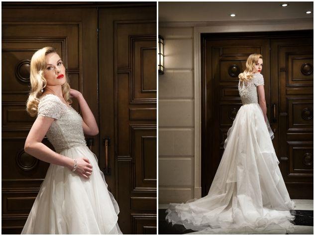 Trendy Wedding Dresses : 1950s Hollywood Glamour Wedding