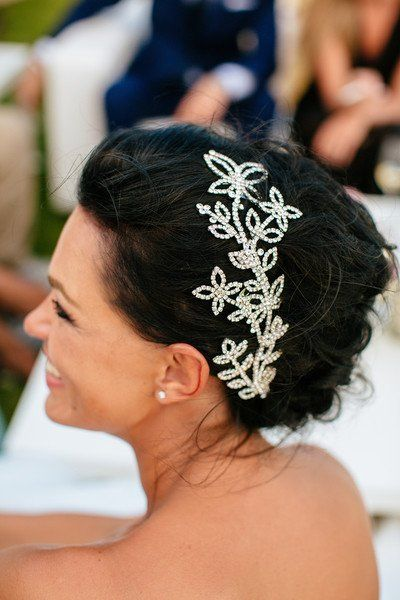 Wedding Hair With Flowers Jewels Beach Wedding Hair Inspo A