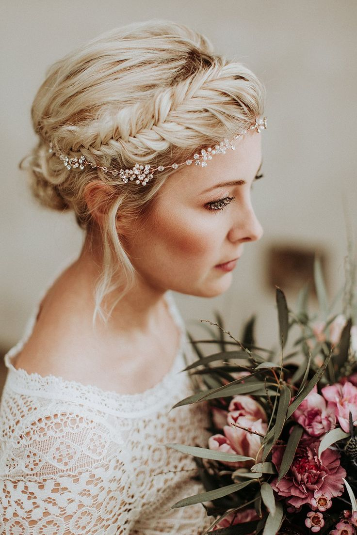 wedding hair with flowers jewels neue brautfrisuren f r lange haare fotos daniela marquardt. Black Bedroom Furniture Sets. Home Design Ideas