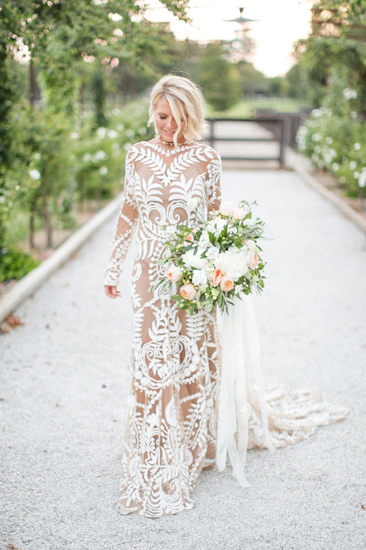 Beautiful brand wedding dresses bohemian long sleeve high bohemian long sleeve high neckline wedding dress photography mike larson ombrellifo Gallery
