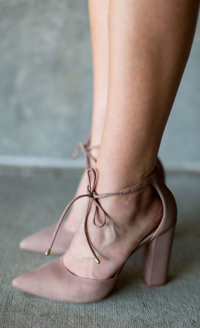 Grey Velvet Shoe New Look