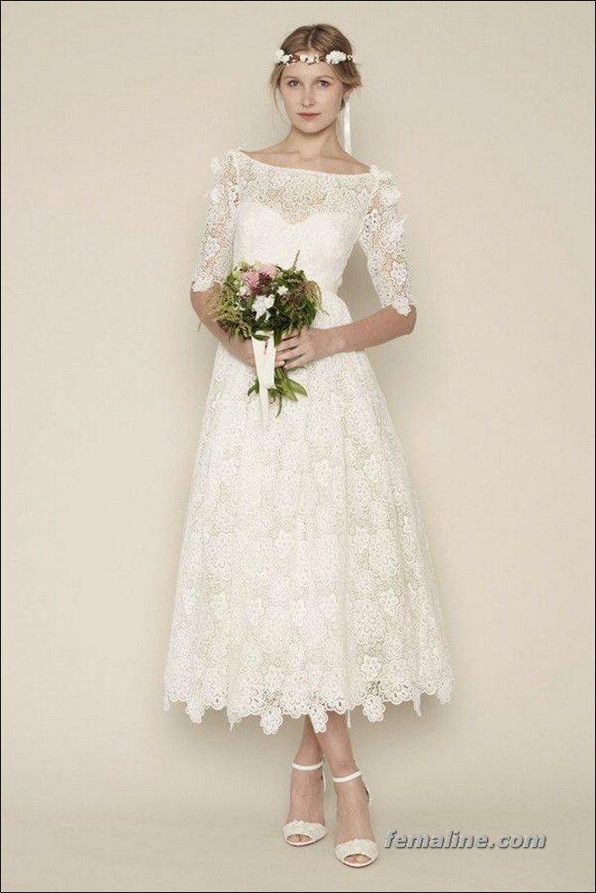 Short Wedding Dresses : 111 elegant tea length wedding dresses ...