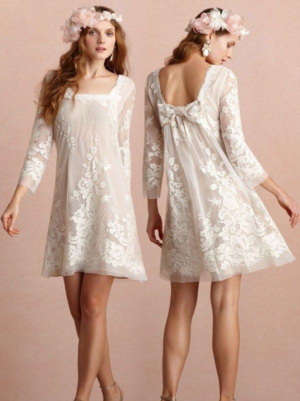 Short Wedding Dresses : Too cute!! wedding dresses for second ...