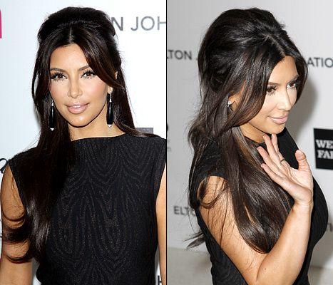 Trendy Hair Style Kim Kardashian S Half Up Do With A How To By Her Hair Guru Youfashion Net Leading Fashion Lifestyle Magazine