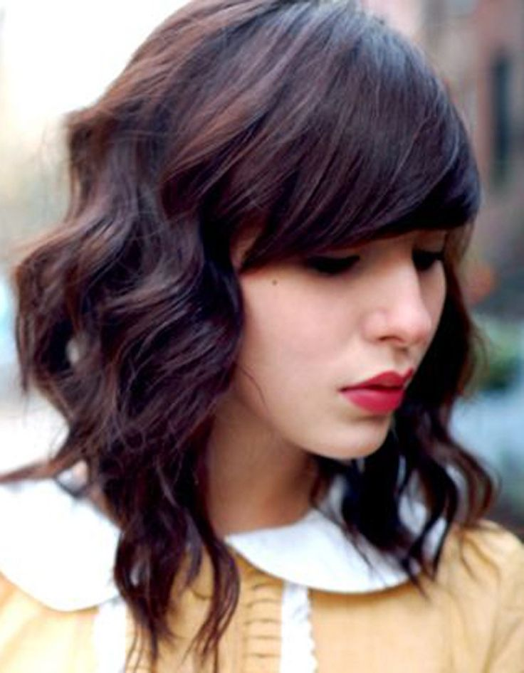 Trendy Hair Style Carré Plongeant Wavy Avec Frange
