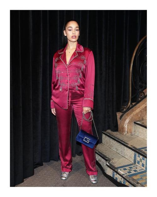 Gucci : Jorja Smith and Felix Maritaud at the Gucci Spring Summer 2019…