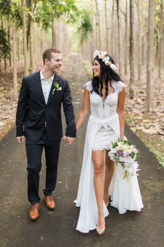 Trendy Wedding Dresses  : Hawaii Elopement by Modern Elopement and Sea Light Studios