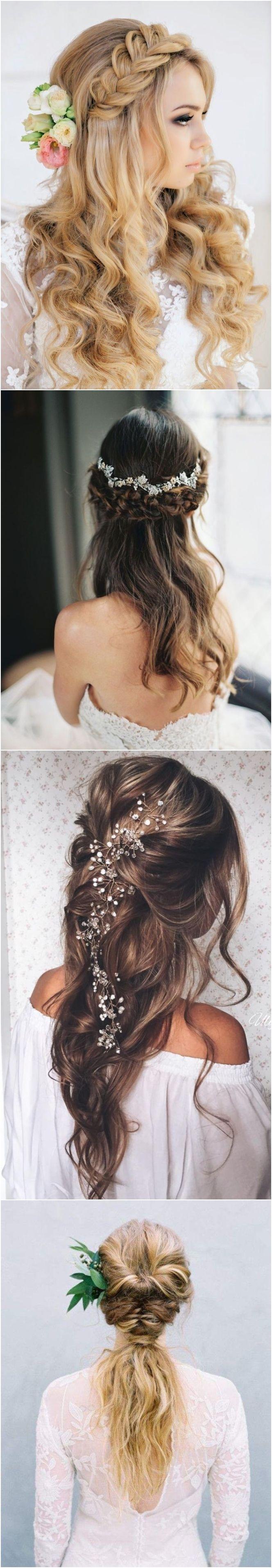 Best Hair Style For Bride   : 40 Stunning Half Up Half Down Wedding Hairstyles with Tutorial / www.deerpearlfl…