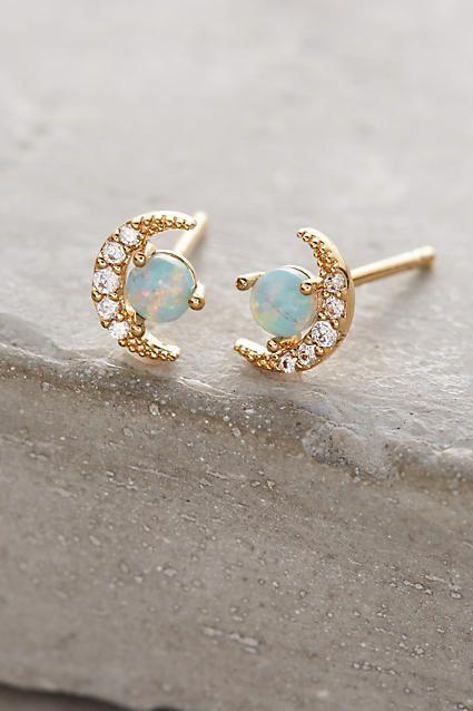 Luxury Jewelry  2017/2018 : Opal Crescent Earrings