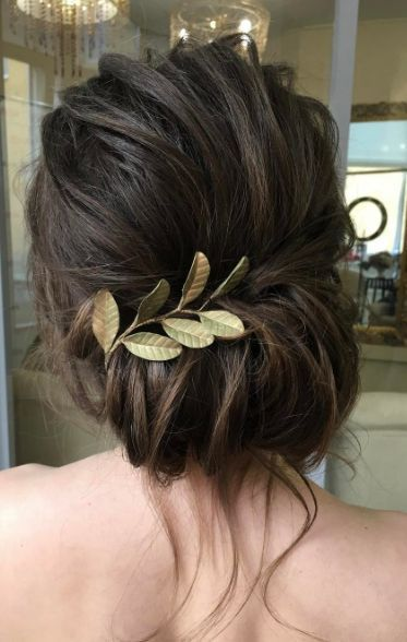 Wedding Hair With Flowers & jewels : Featured Hairstyle: Elstile; www.elstile.ru; Wedding hairstyle idea.
