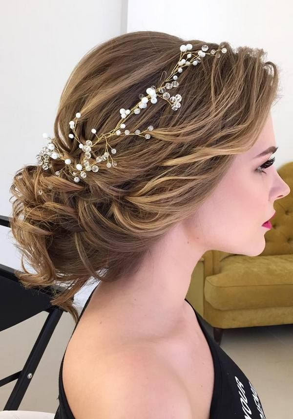 Wedding Hair With Flowers & jewels : Half-updo, Braids, Chongos Updo Wedding Hairstyles / www.deerpearlflow…