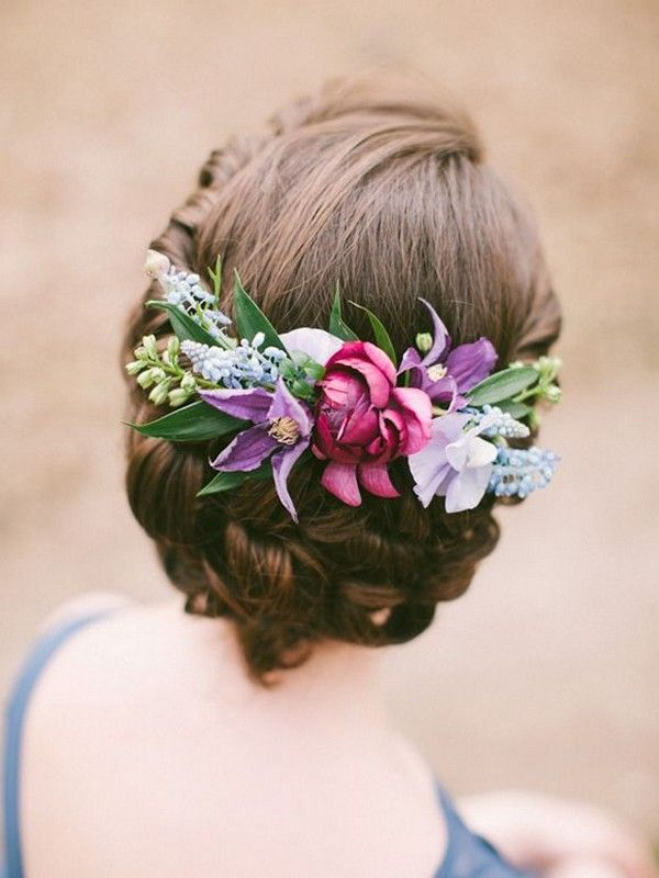 Wedding Hair With Flowers & jewels : vintage bridal wedding hair ideas with flower crown